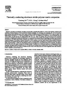Thermally conducting aluminum nitride polymer-matrix composites