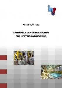 thermally driven heat pumps for heating and cooling - Nachhaltig ...