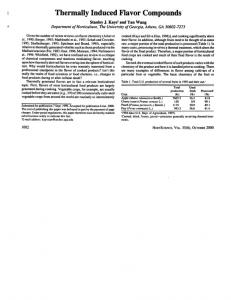 Thermally Induced Flavor Compounds