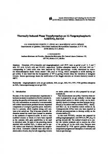 Thermally Induced Phase Transformation on 12 ... - Springer Link