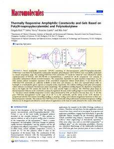 Thermally Responsive Amphiphilic Conetworks ... - ACS Publications