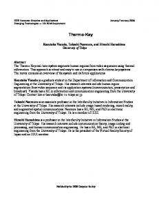 Thermo-key - Computer Graphics and Applications, IEEE - IEEE Xplore