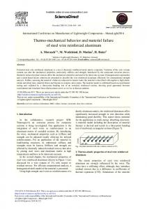 Thermo-mechanical Behavior and Material Failure of Steel Wire ... - Core