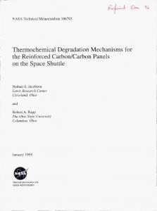 Thermochemical Degradation Mechanisms for the Reinforced Carbon ...