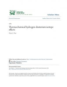 Thermochemical hydrogen-deuterium isotope effects