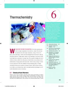 Thermochemistry - Pearson Canada