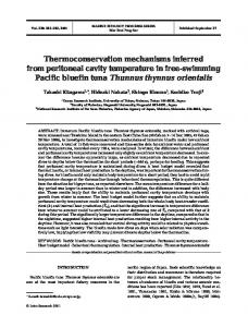 Thermoconservation mechanisms inferred from peritoneal cavity ...