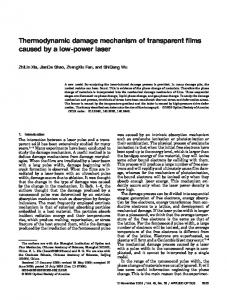 Thermodynamic damage mechanism of transparent ... - OSA Publishing