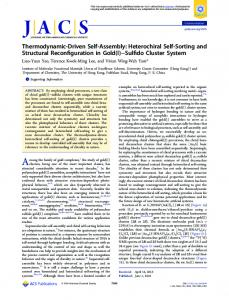 Thermodynamic-Driven Self-Assembly - ACS Publications - American ...