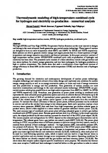 Thermodynamic modeling of high-temperature