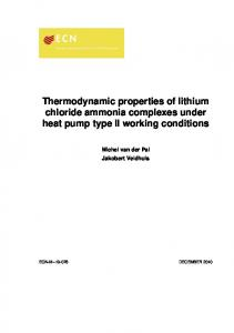Thermodynamic properties of lithium chloride ammonia complexes ...
