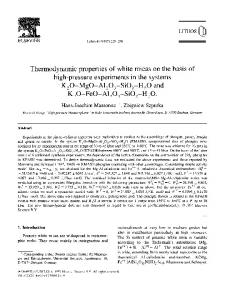 Thermodynamic properties of white micas on the