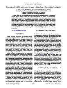 Thermodynamic stability and structure of copper