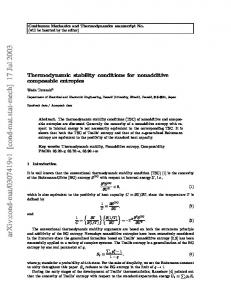 Thermodynamic stability conditions for nonadditive composable ...