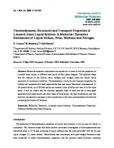 Thermodynamic, Structural and Transport Properties of Lennard ...