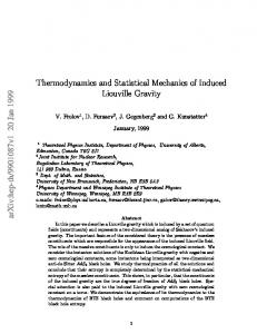 Thermodynamics and Statistical Mechanics of Induced Liouville Gravity