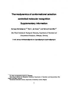 Thermodynamics of conformational selection controlled molecular