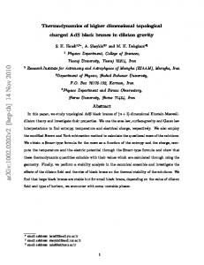 Thermodynamics of higher dimensional topological charged AdS ...