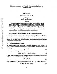 Thermodynamics of Pseudo-Hermitian Systems in Equilibrium