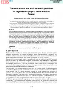 Thermoeconomic and environmental guidelines for