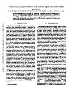 Thermoelectric properties of doped small molecule organic ...