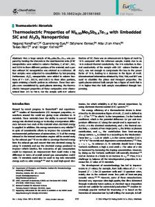Thermoelectric Properties of Ni0.05Mo3Sb5 ... - Wiley Online Library