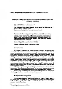 thermoelectronic emission of tungsten carbide activated tungsten ...