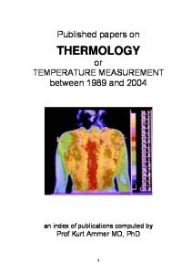 Published papers on Thermology or Temperature Measurement ... - MAFIADOC.COM
