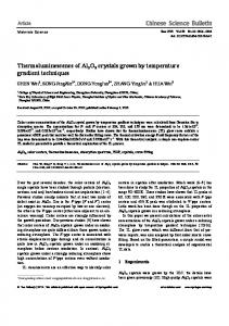Thermoluminescence of Al2O3 crystals grown by ... - Springer Link