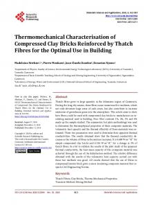 Thermomechanical Characterisation of Compressed