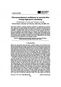 Thermomechanical oscillations in material flow during high-speed ...