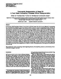 Thermophilic Biodegradation of Diesel Oil in Food Waste Composting ...