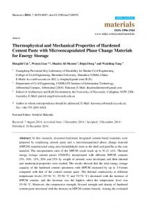 Thermophysical and Mechanical Properties of