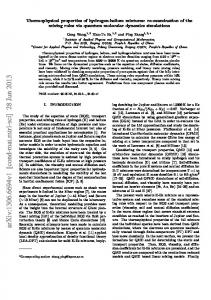 Thermophysical properties of hydrogen-helium mixtures: Re ...