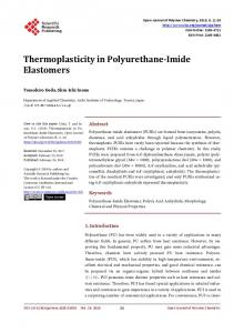 Thermoplasticity in Polyurethane-Imide Elastomers - Scientific