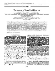 Thermopower of Beech Wood Biocarbon