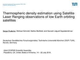 Thermospheric density estimation using Satellite Laser ... - mediaTUM