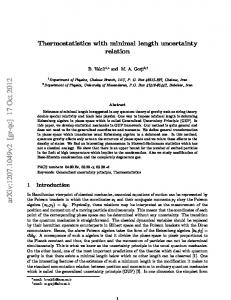 Thermostatistics with minimal length uncertainty relation