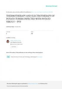 thermotherapy and electrotherapy of potato tubers