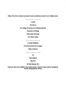 Thesis and dissertation template - Indiana State University