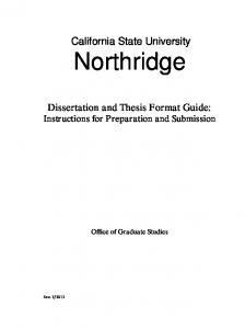 Thesis Format Guide 2013-2014