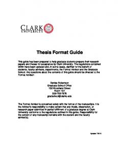 Thesis Format Guide [PDF]