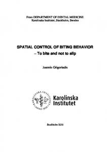 Thesis - KI Open Archive - Karolinska Institutet