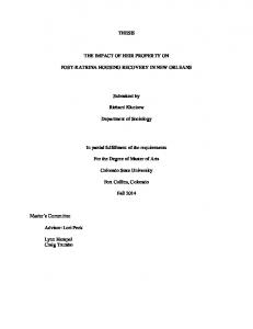 THESIS THE IMPACT OF HEIR PROPERTY ON ... - Semantic Scholar