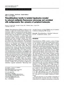 Thiazolidinedione toxicity to isolated hepatocytes revealed by ...