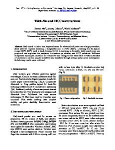 Thick-film and LTCC microvaristors