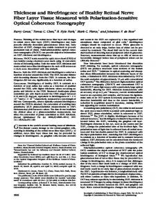 Thickness and Birefringence of Healthy Retinal Nerve Fiber Layer ...