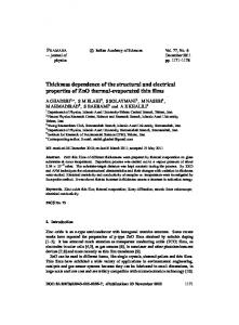 Thickness dependence of the structural and electrical properties of