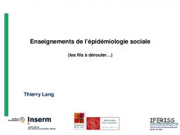 Thierry Lang - IReSP