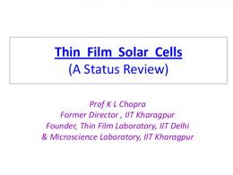 Thin Film Solar Cells - kfupm